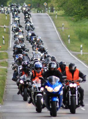 Ausfahrt der Güstrower Motorradfreunde