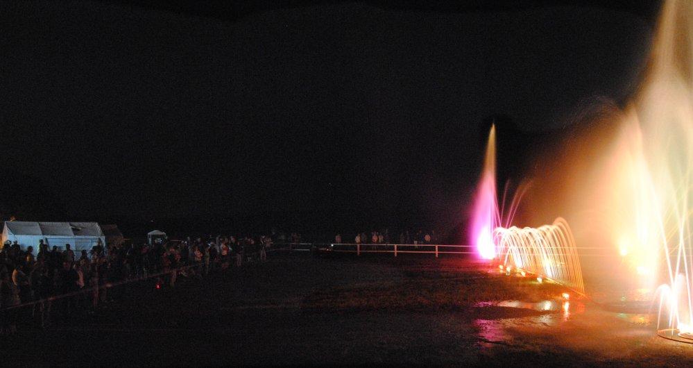 Wasserorgel bei der 11. Schwanenrallye 2010 Sonnabend Nacht
